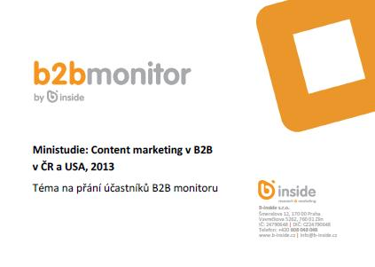 Content marketing v B2B