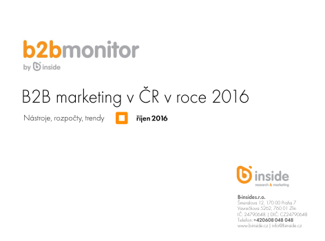 B2B marketing v ČR v roce 2016