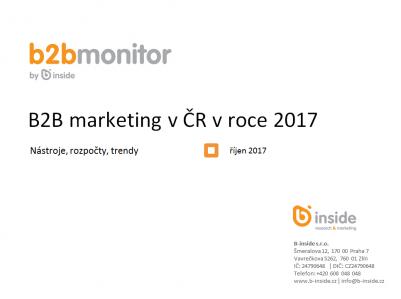 B2B marketing v ČR v roce 2017