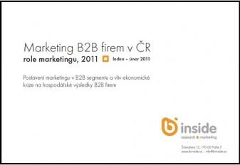 1. vlna výzkumu - Marketing v době krize