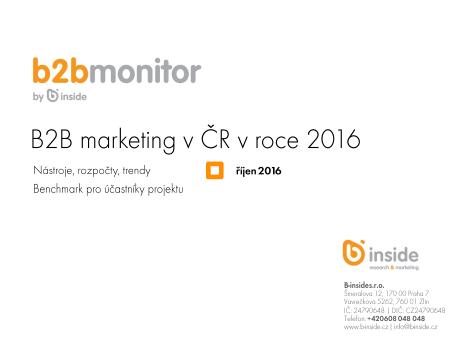 B2B marketing v ČR v roce 2016