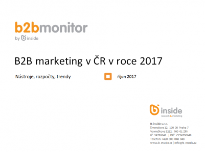 B2B marketing v ČR v roce 2017